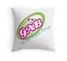 GAB - Girls After Boys Throw Pillow