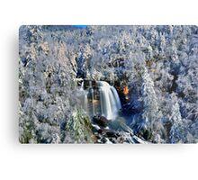 A Winter Blast at Whitewater Falls Metal Print