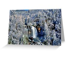 A Winter Blast at Whitewater Falls Greeting Card