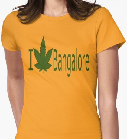 0043 I Love Bangalore Womens Fitted T-Shirt