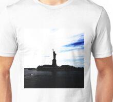 Silhouttes of Lady Liberty Unisex T-Shirt