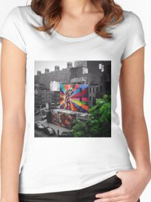 Street Art at the Highline Women's Fitted Scoop T-Shirt