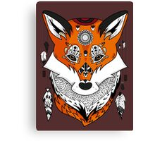 Fox Head Canvas Print