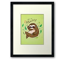I am so slothvely Framed Print