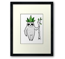 King of Sloth Framed Print
