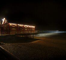 Saltburn Pier By Night by WhartonWizard