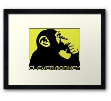 Clever Monkey Framed Print