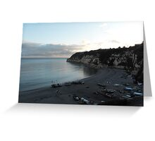 DUSK AT BEER, DEVON. Greeting Card