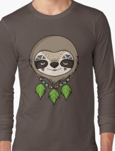 Sloth Head Long Sleeve T-Shirt
