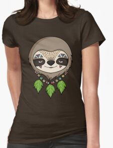 Sloth Head Womens Fitted T-Shirt