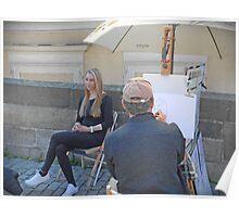 A Street painter in Prague Poster