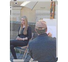 A Street painter in Prague iPad Case/Skin