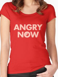 ANGRY NOW Women's Fitted Scoop T-Shirt