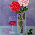 Study of a still life with roses by Madalena Lobao-Tello