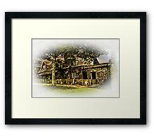Cottage at Cotehele Framed Print