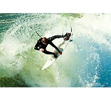 Surfing in Oceanside California Photographic Print