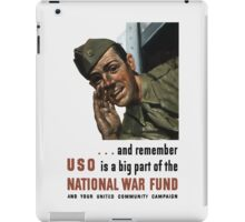 National War Fund -- WW2 Propaganda  iPad Case/Skin