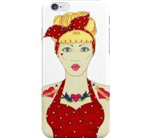 RETRO DIVA iPhone Case/Skin