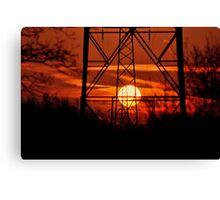 Dawn Through the Towers Canvas Print