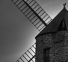 Mill of the Mont-Saint-Michel's bay by Dominique Guillaume