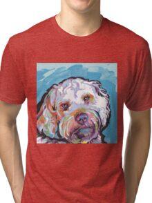 Cockapoo Dog Bright colorful pop dog art Tri-blend T-Shirt
