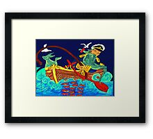 """The Man, His Dog and the Sea"" Framed Print"