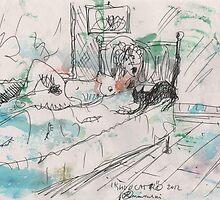 SHUU CAT 2(ORIGINAL SKETCH)(C2012) by Paul Romanowski