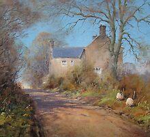 Straying Sheep, Sharperton, Northumberland by JoeHush
