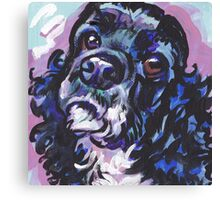 American Cocker Spaniel Dog Bright colorful pop dog art Canvas Print