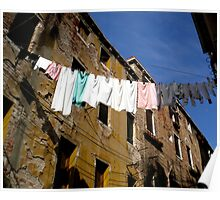 Laundry Line Poster