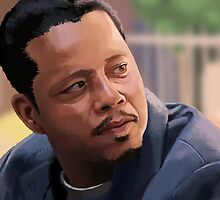 Terrence Howard Portrait by Tom Bradnam