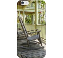 Pair of old rockers on the porch at Meadowcroft iPhone Case/Skin