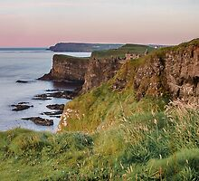 Glow over Dunluce Castle Ruins | Irish Landscape | Pictures Of Ireland by Alan Campbell