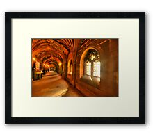 Windows bring light to the corridor Framed Print