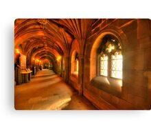Windows bring light to the corridor Canvas Print