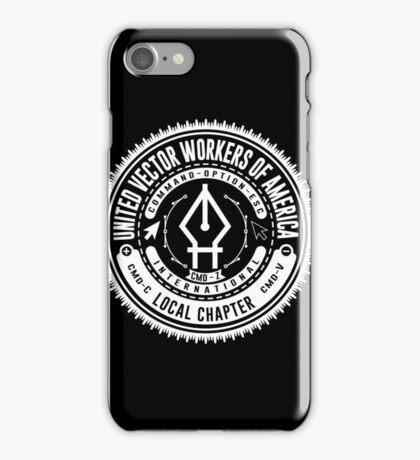 United Vector Workers of America (Mac) iPhone Case/Skin