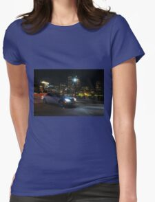 Night Out In Boston Womens Fitted T-Shirt