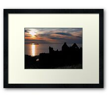 Sunset over Dunluce Castle | Irish Landscape | Pictures Of Ireland Framed Print