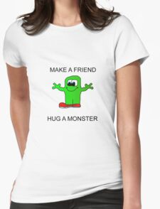 Make a friend Womens Fitted T-Shirt