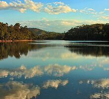 Woolgoolga Lake Cloudscape by Ann  Van Breemen
