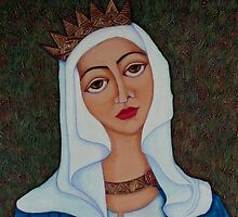 Queen Saint Isabel of Portugal by Madalena Lobao-Tello