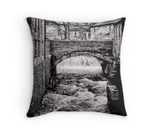 Grinding out the stone Throw Pillow