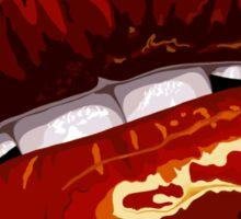 Fiery Layered Graphic Lips Sticker