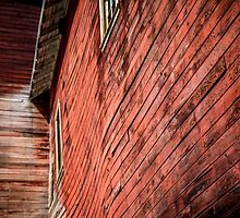 Red wooden walls by RoofdogMedia