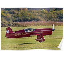 Percival Mew Gull replica G-HEKL Poster