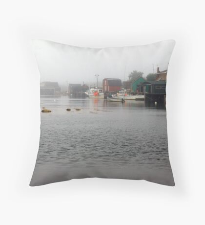 Foggy Day in West Dover Throw Pillow