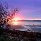 Largs sunset - looking over to Cumbrae by Tazfiend