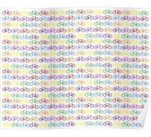 Colorful Bicycles Poster