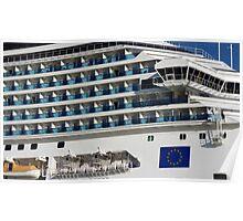 Cruise Liner, Port of Barcelona Poster