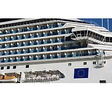 Cruise Liner, Port of Barcelona Photographic Print